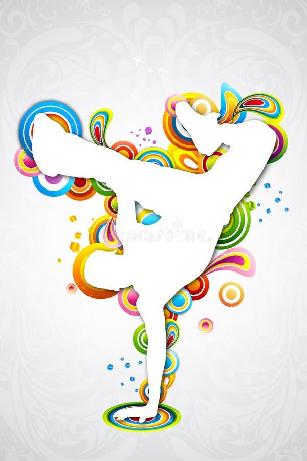 Homem da dança ilustração stock