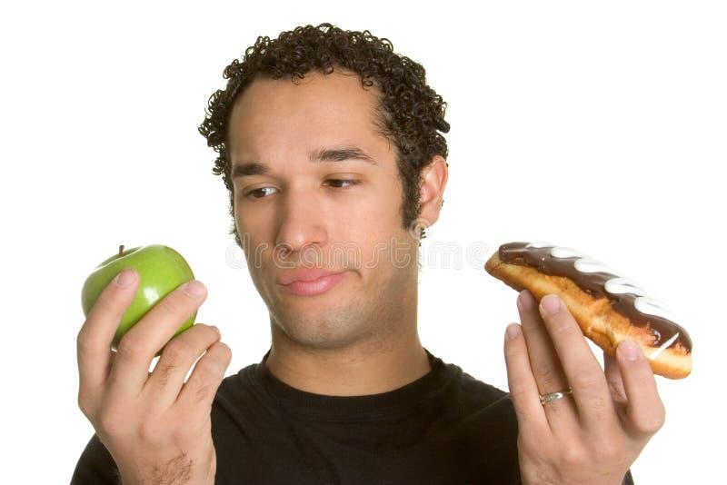 Homem da dieta fotos de stock royalty free
