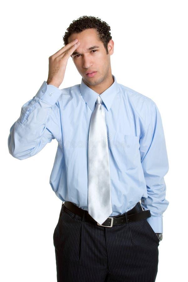 Homem da dor de cabeça fotos de stock