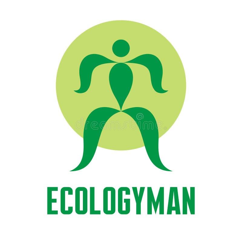 Homem da ecologia - vetor Logo Sign criativo ilustração royalty free
