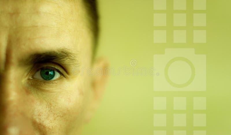 Homem da face do close up fotografia de stock