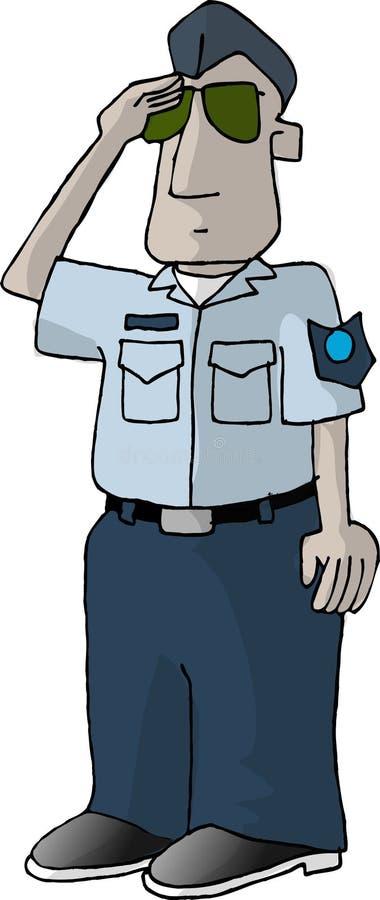 Homem da força aérea de E.U. ilustração do vetor