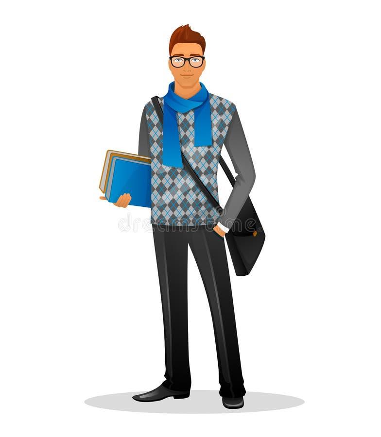 Homem da forma com lenço azul ilustração royalty free