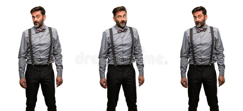 Homem da Idade Média que veste um terno imagens de stock