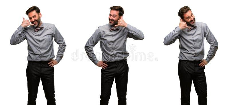 Homem da Idade Média que veste um terno fotografia de stock