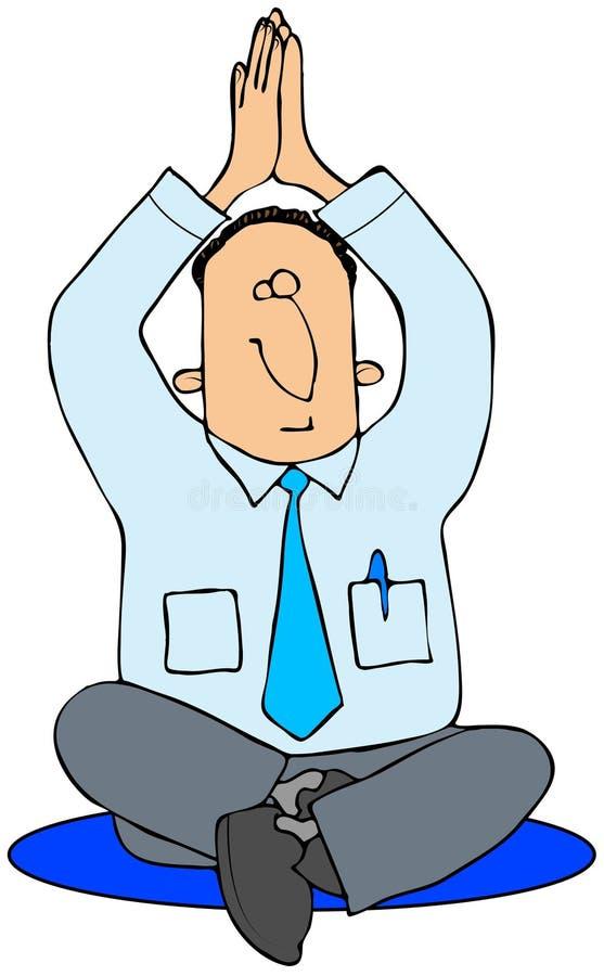 Homem da ioga ilustração do vetor
