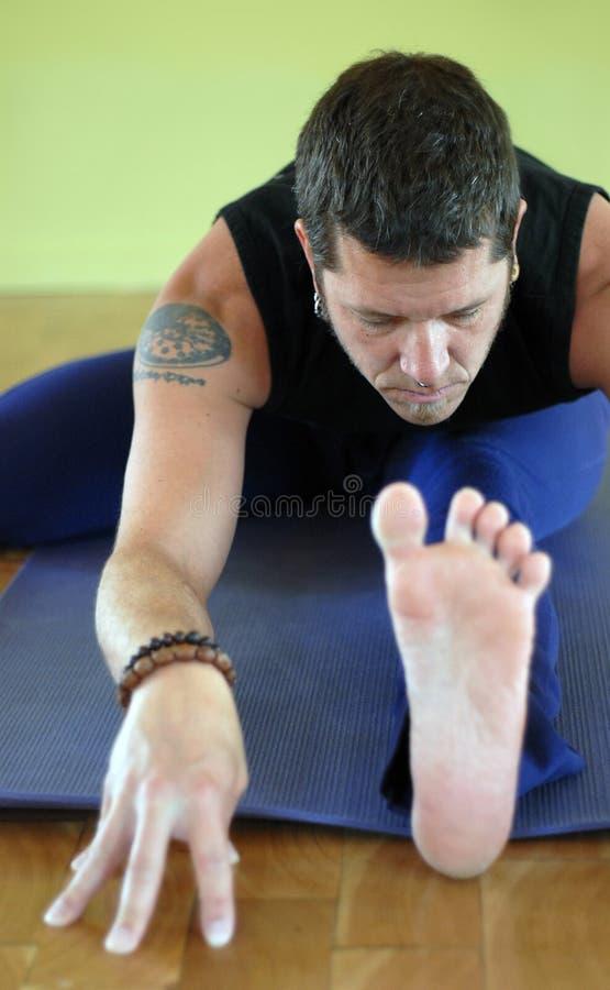 Homem da ioga fotos de stock