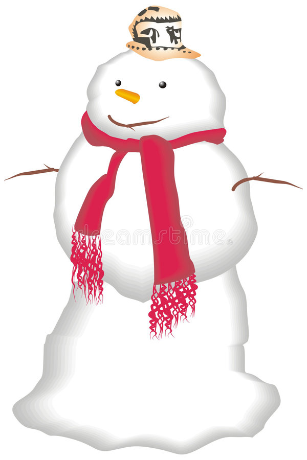 Homem da neve ilustração royalty free