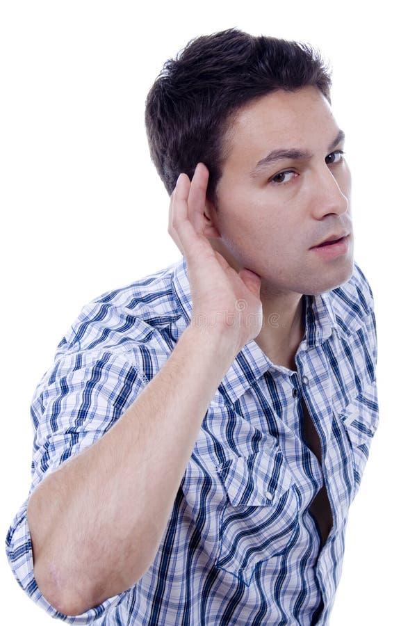 Homem da orelha imagem de stock