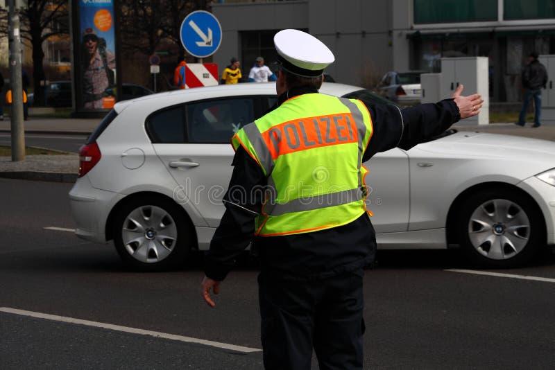 Homem da polícia em Alemanha imagens de stock