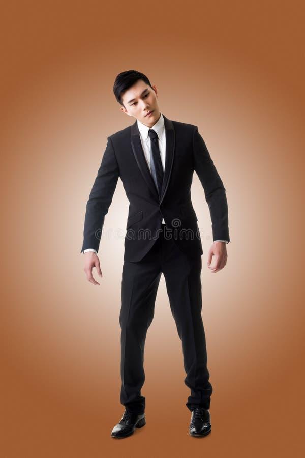 Homem da pose do marionete fotos de stock