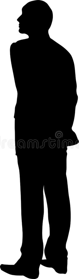 Homem da silhueta ilustração royalty free