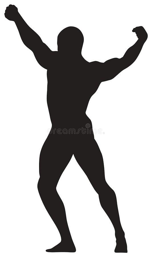 Homem da silhueta do vetor ilustração do vetor