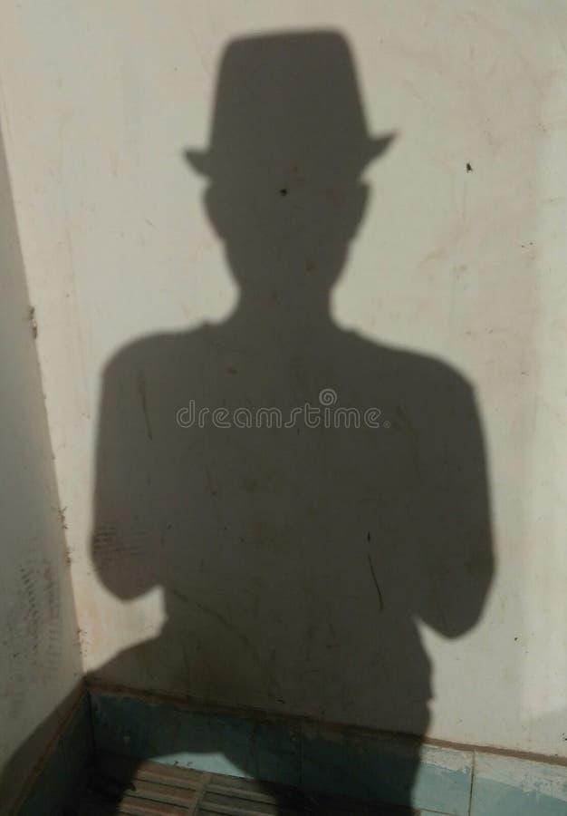Homem da sombra imagem de stock