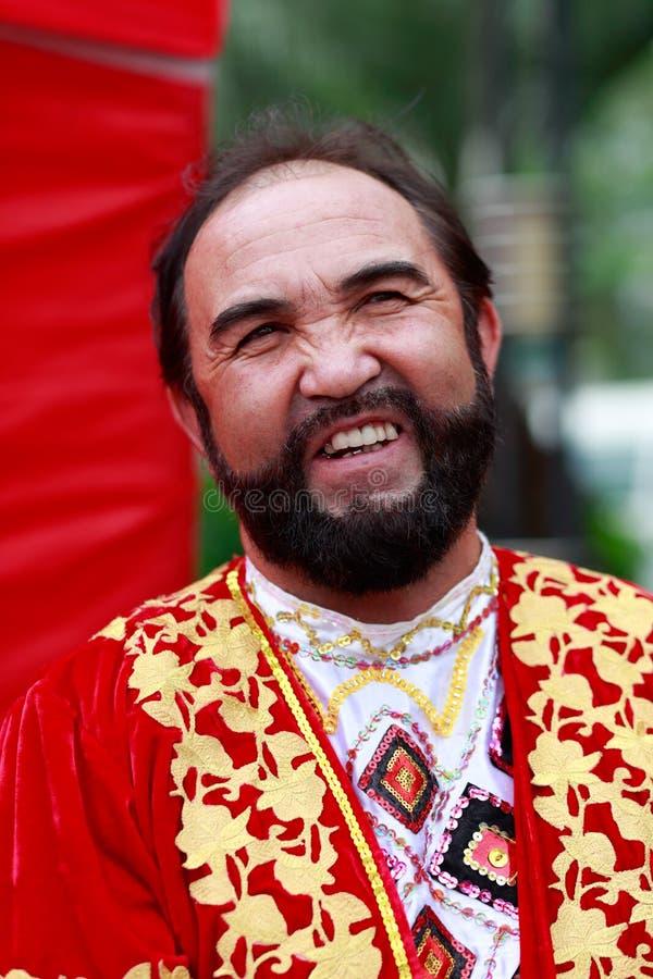 Homem das pessoas idosas da nacionalidade de uygur do chinês imagens de stock