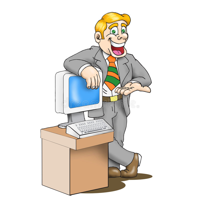 Homem das vendas ilustração do vetor