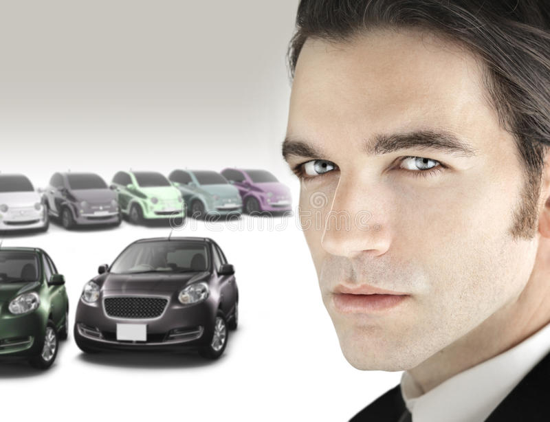 Homem das vendas do carro imagem de stock royalty free