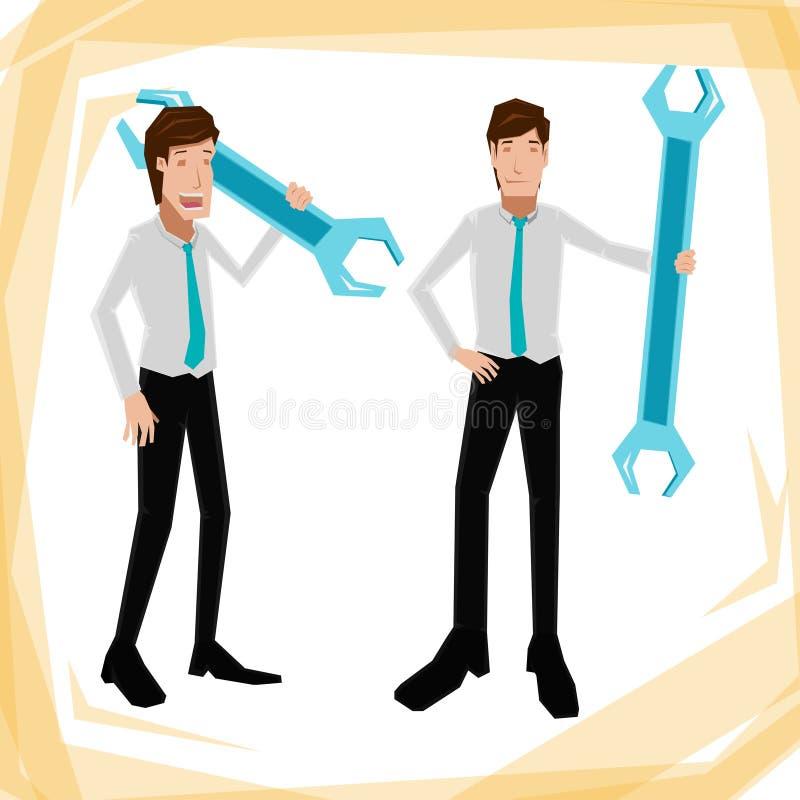 Homem de Business do técnico ilustração royalty free
