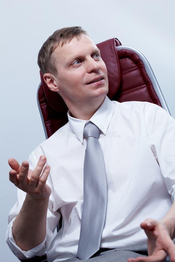 Homem de comunicação foto de stock royalty free