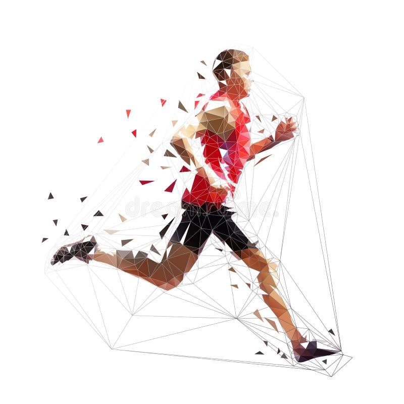 Homem de corrida, ilustração geométrica poligonal ilustração stock