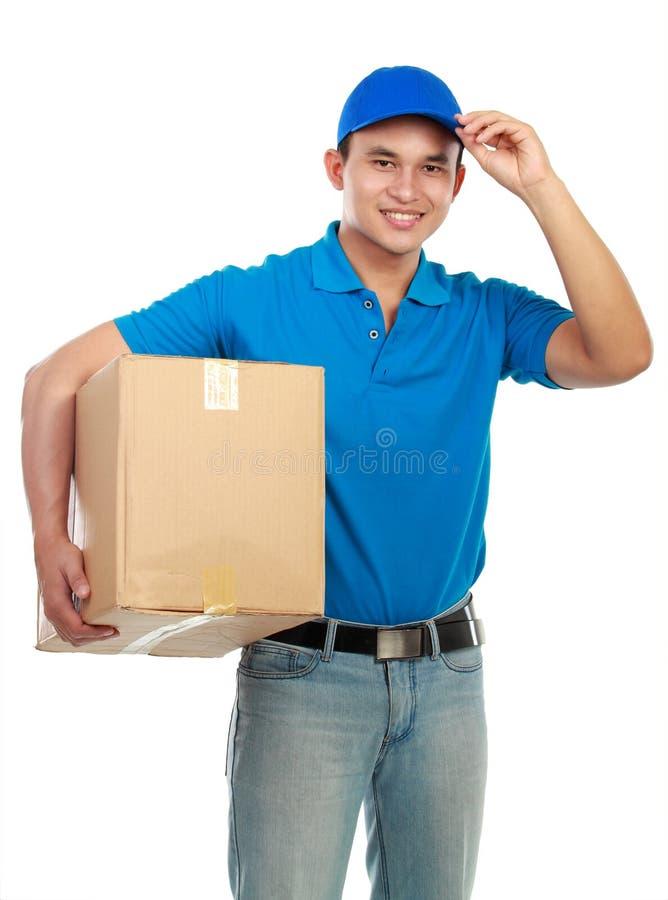 Homem de entrega imagem de stock