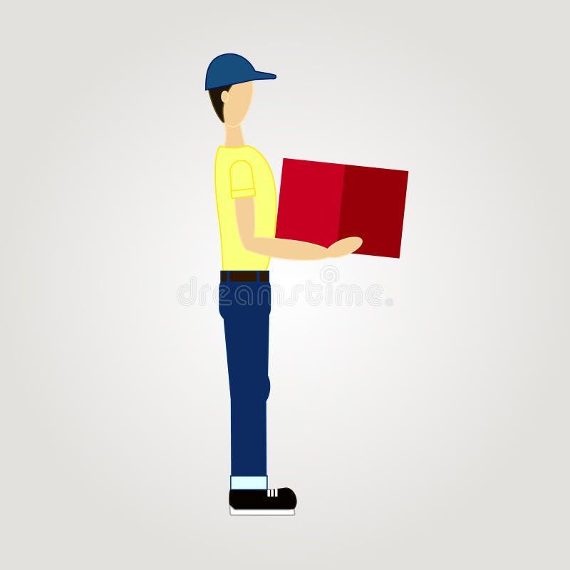 Homem de entrega Ilustração do vetor ilustração do vetor