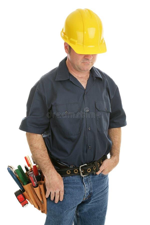 Homem de funcionamento anónimo foto de stock royalty free