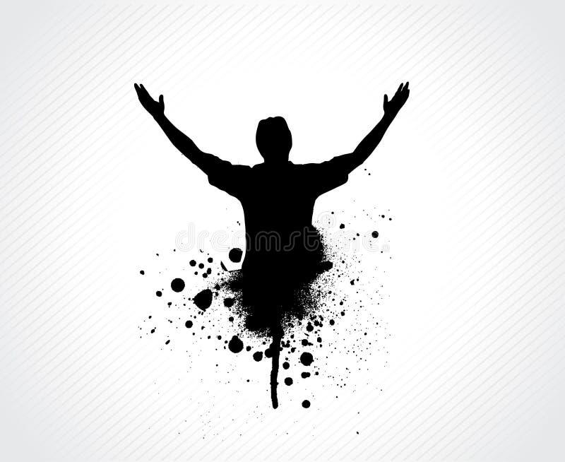 Homem de Grunge ilustração royalty free