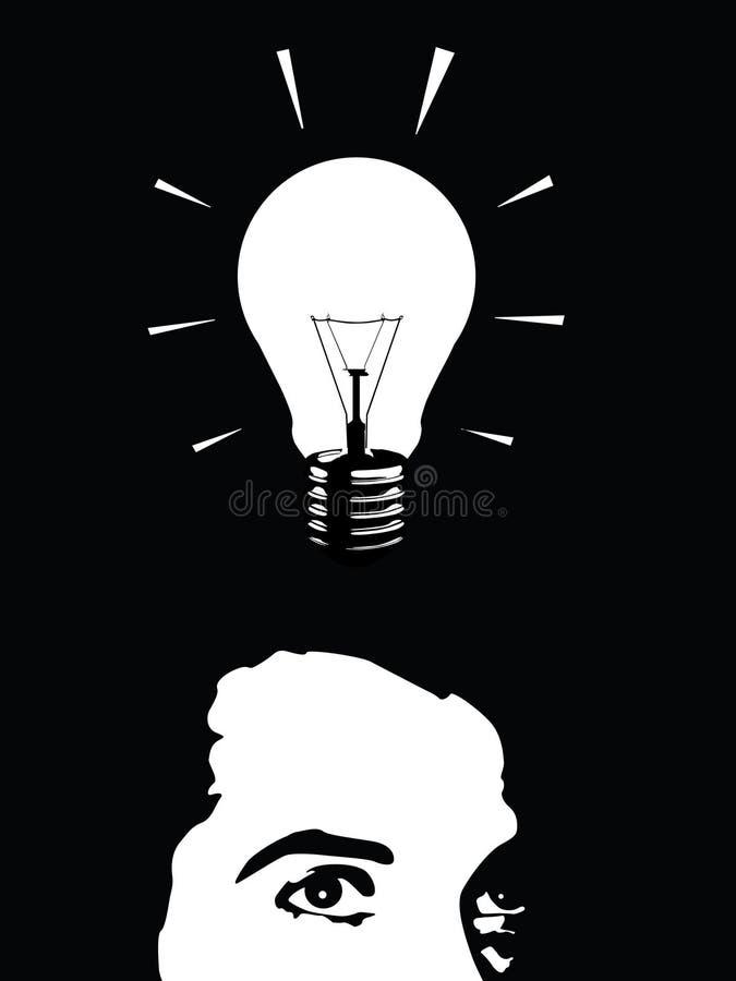 Homem de idéia ilustração do vetor