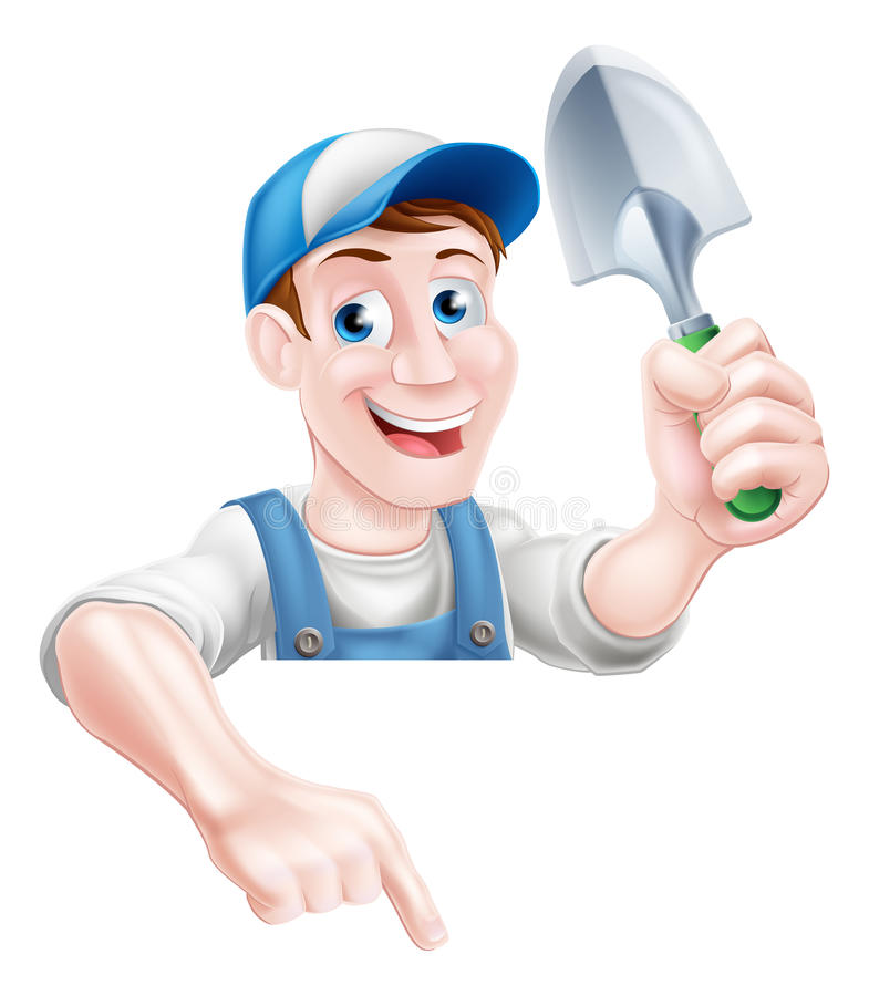 Homem de jardinagem ilustração do vetor