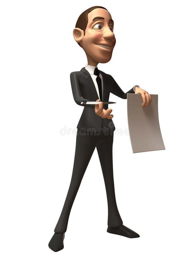 Homem de negócio ilustração stock