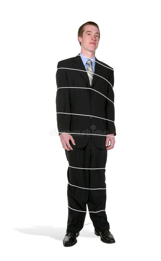 Homem de negócio amarrado imagem de stock royalty free