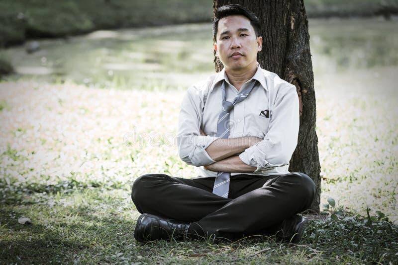 Homem de negócio asiático fotografia de stock royalty free
