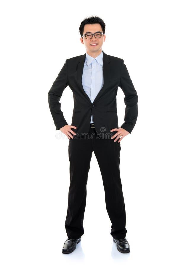 Homem de negócio asiático do corpo completo fotografia de stock