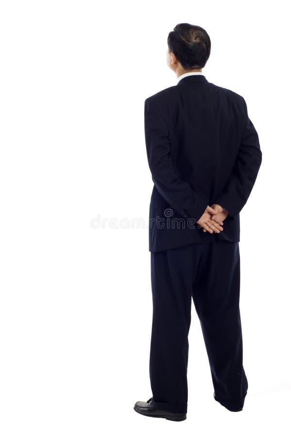 Homem de negócio asiático sênior da parte traseira fotografia de stock royalty free