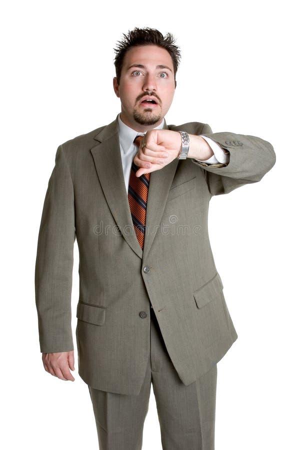 Homem De Negócio Atrasado Imagens De Stock