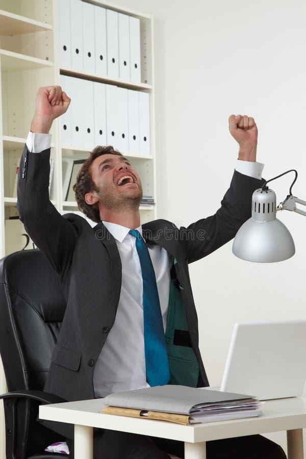 Homem de negócio bem sucedido fotografia de stock
