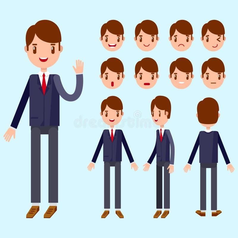 Homem de negócio bonito dos desenhos animados imagem de stock