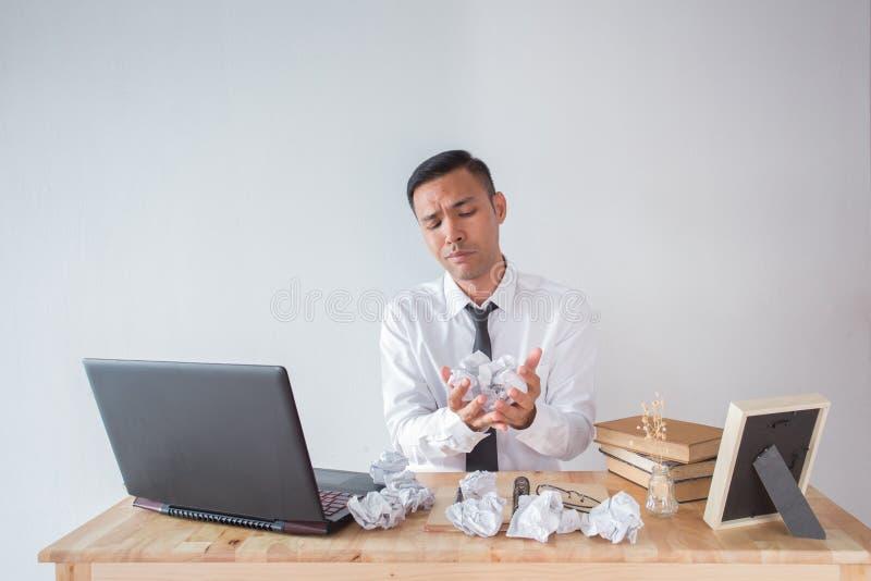 Homem de negócio com erro fotos de stock