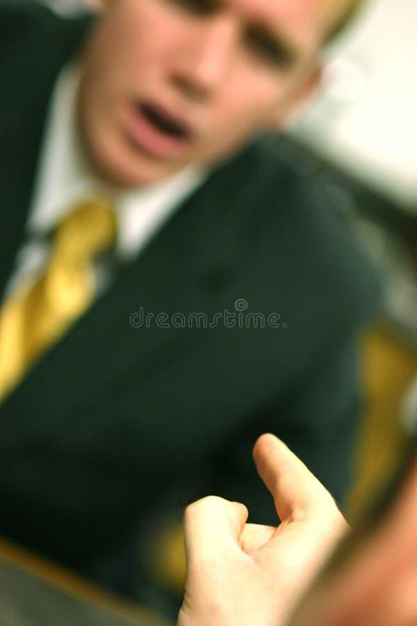 Homem de negócio com notícia foto de stock
