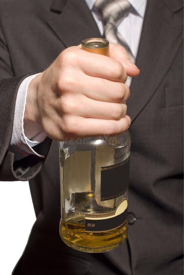 Homem de negócio com um frasco fotos de stock royalty free