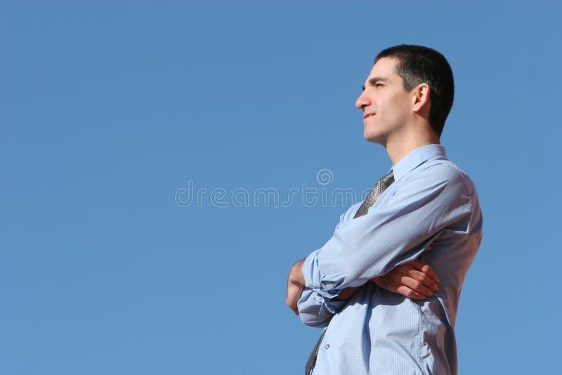 Homem de negócio com uma visão fotografia de stock