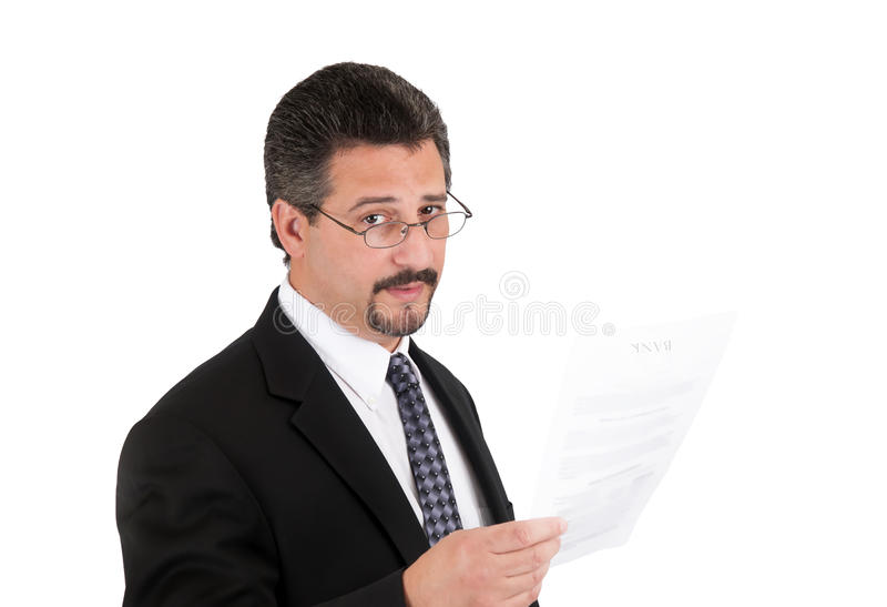 Homem de negócio com vidros imagem de stock