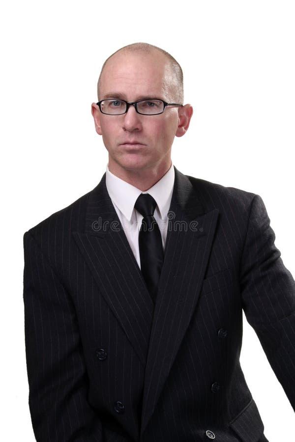 Homem de negócio com vidros fotografia de stock royalty free