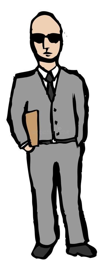 Homem de negócio confiável ilustração royalty free