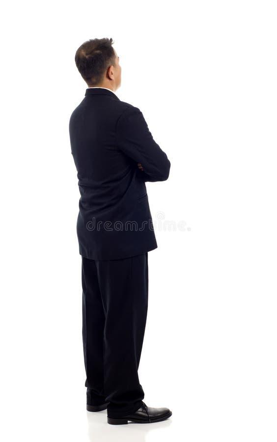 Homem de negócio da parte traseira fotos de stock