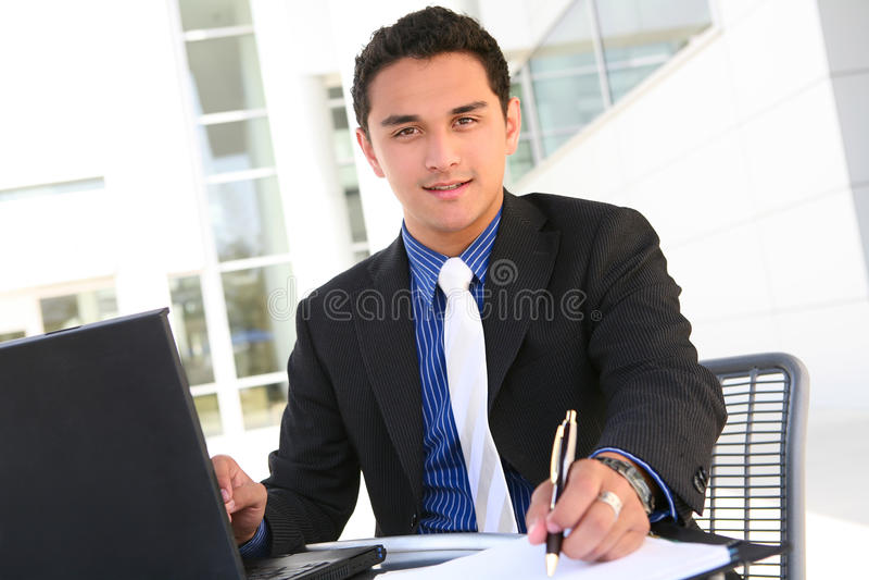 Homem de negócio de Hansome fotografia de stock