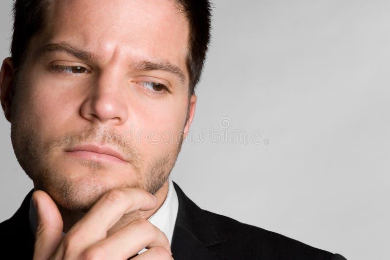 Homem de negócio de pensamento imagem de stock royalty free