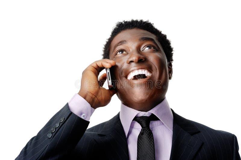 Homem de negócio de riso imagens de stock royalty free