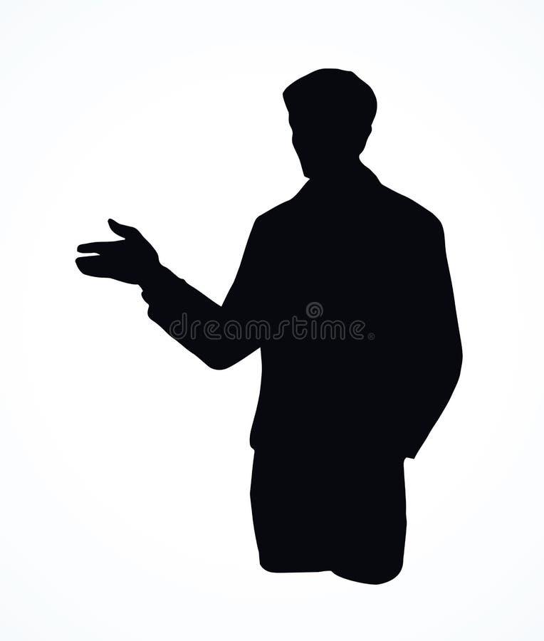 Homem de negócio Desenho do vetor ilustração royalty free